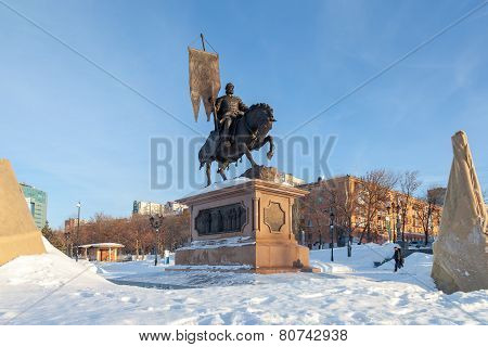 Bronze Monument To The Founder Of Samara Prince Grigory Zasekin.