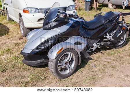Trike Or Tricycle Vehicle Spyder Is Made By Bombardier Recreational Products Or Brp Is A Canadian Co