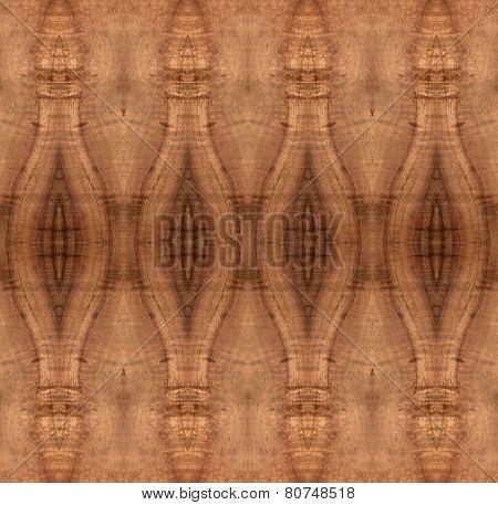 Decorative curly Koa wood