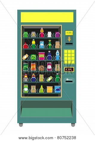 Green Vending Machine vector isolated on white