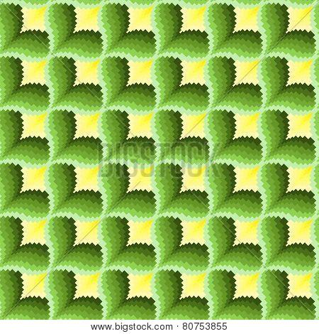 Green And Yellow Ornamental Seamless Pattern
