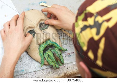 Sculpting Plasticine Face