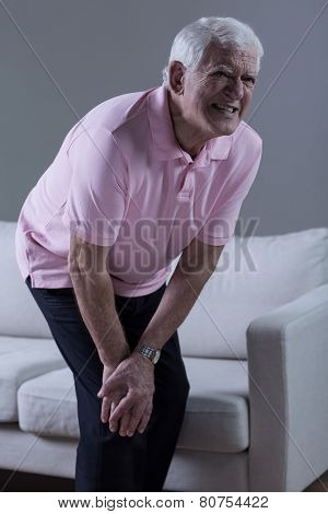 Pensioner Having Knee Arthritis