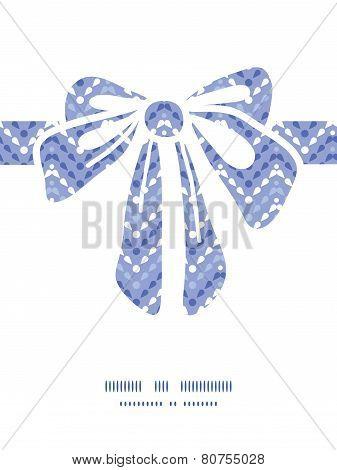 Vector purple drops chevron gift bow silhouette pattern frame