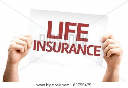 Life Insurance card isolated on white background