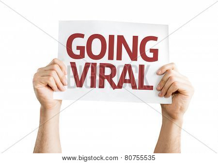 Going Viral card isolated on white background