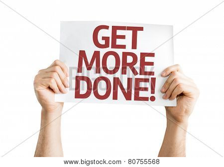 Get More Done card isolated on white background