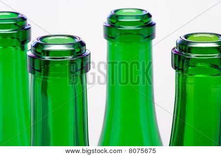 Green bottle necks