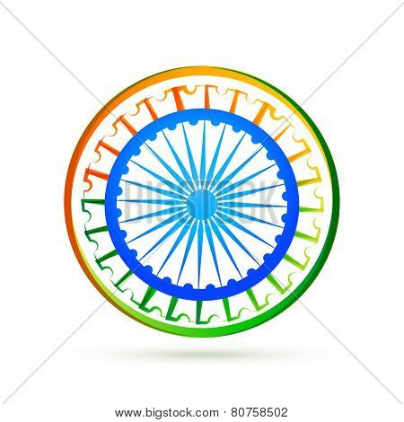 indian flag design concept with wheel