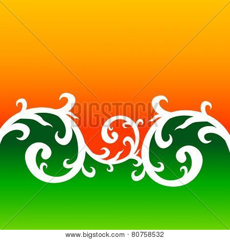 creative floral style background with indian flag colors