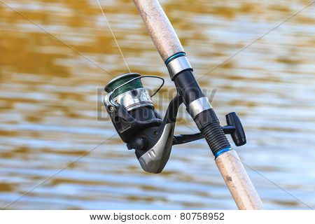 Fishing Rods On Riverside