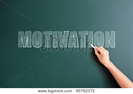 motivation written on blackboard
