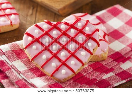 Homemade Pink Valentine's Day Cookies