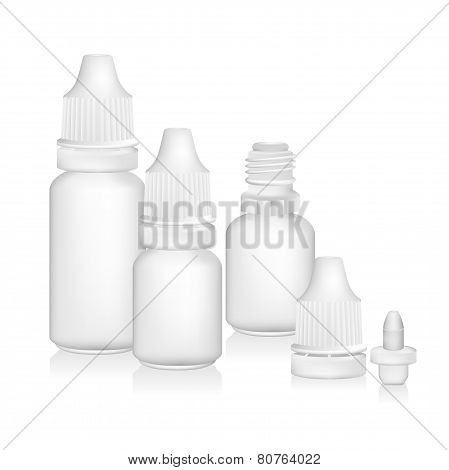 Eye drop bottle isolate on white background