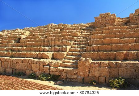 Hippodrome Steps and Seats in Caesarea Maritima National Park