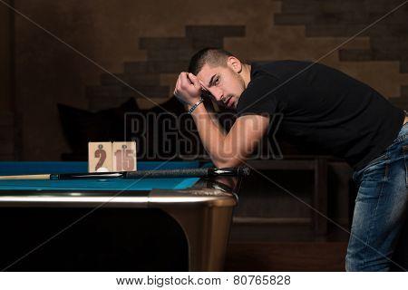 Sad Man Lost His Billiard Game