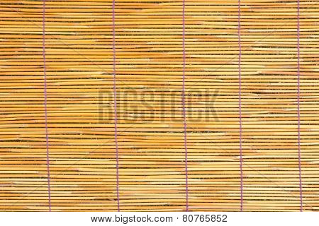 Close Up Of Bamboo Blind Texture