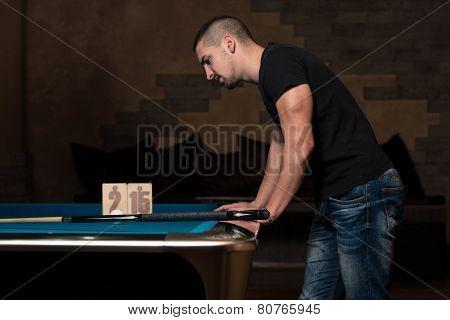 Sad Man Lost His Pool Game