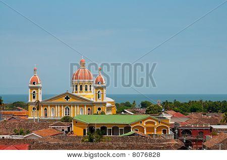 Yellow Church In Granada