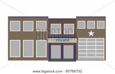 vector police building