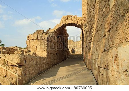 Entrance of the Amphitheater in Caesarea Maritima National Park