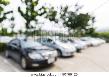 Blurred Car Park