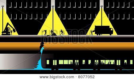 Saltos de agua principal superan el metro por la noche
