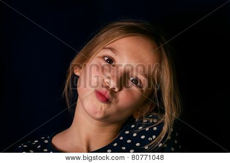 Girl Making Face