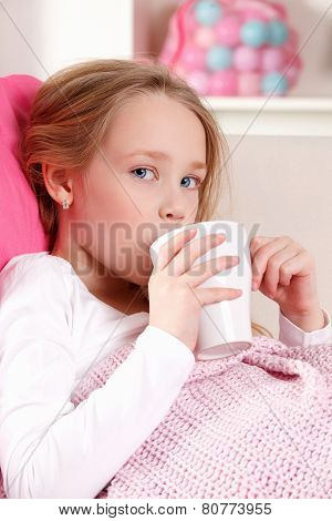 Sick Child Drinking