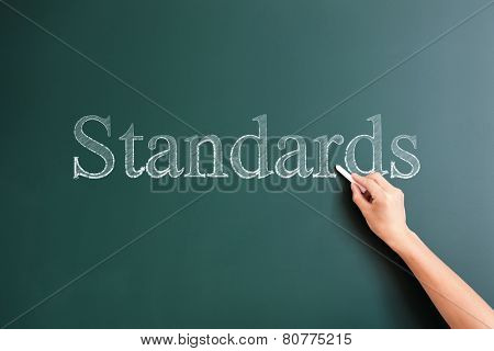 standards written on blackboard