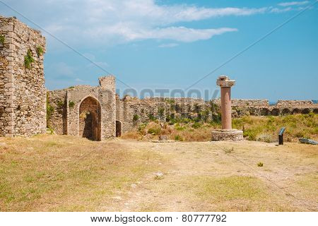 Methoni fortress, inside the walls