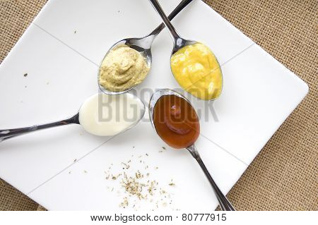 Variety Of Condiments