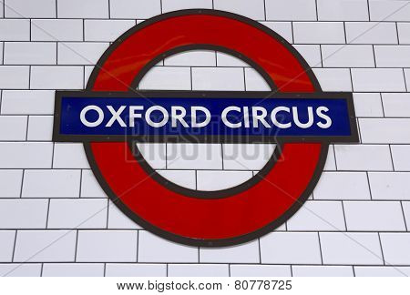 London Underground Oxford Circus Station
