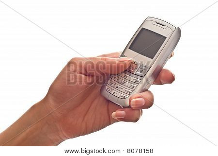 Hand Using A Mobile Phone