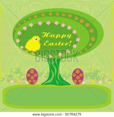 Abstract Easter Tree