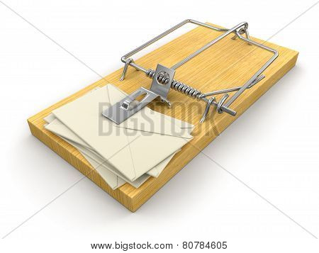 Mousetrap and letters (clipping path included)