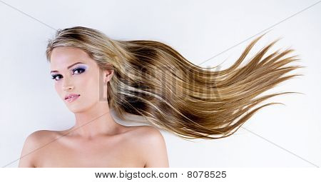 Attractive Woman With Beauty Long Hairs
