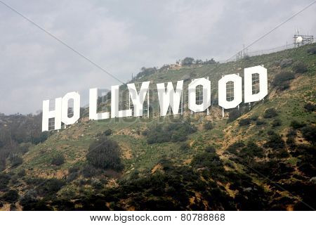 LOS ANGELES - JAN 20:  Hollywood Sign at the AG Awards Actor Visits The Hollywood Sign at a Hollywood Hills on January 20, 2015 in Los Angeles, CA