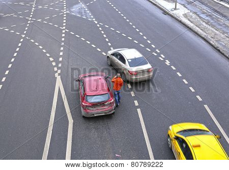 The Car Accident In Moscow