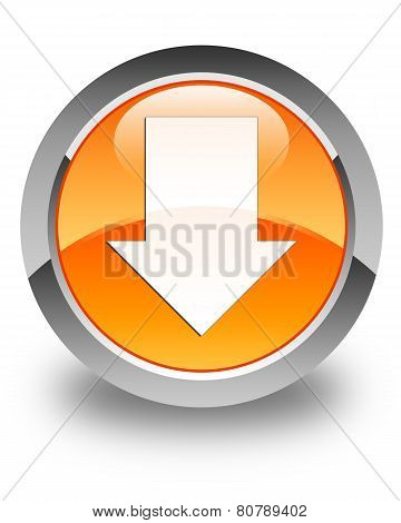 Download Arrow Icon Glossy Orange Round Button