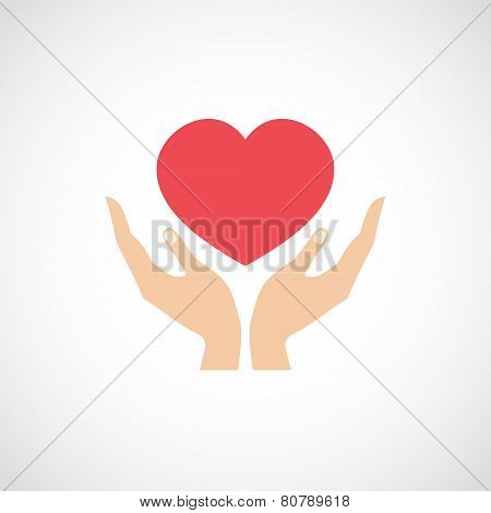 Hand Hold Protect Heart