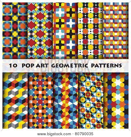 Pop Art Geometric Background Pattern Style