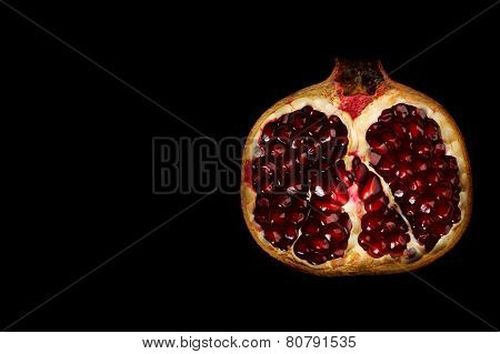 Half Grenadine Isolated On Black