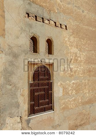 Arched windows at the Alhambra in Granada, Spain