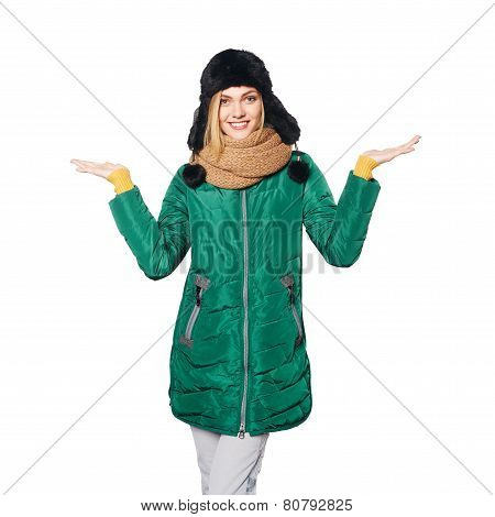 Winter woman portrait