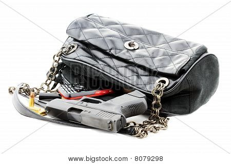Handgun In Purse