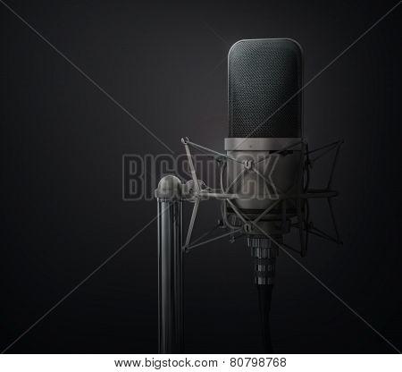 Microphone. Speaker Concept.