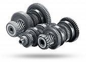 picture of interlocking  - Gear metal wheels - JPG