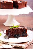 picture of torte  - Prune and chocolate torte slice - JPG