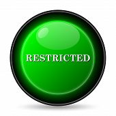 image of restriction  - Restricted icon - JPG